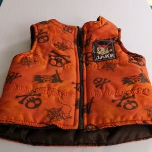 Puffy Vest with Pirate Theme